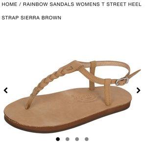 NWOT Rainbow T-Street Leather Sandal Sierra Brown